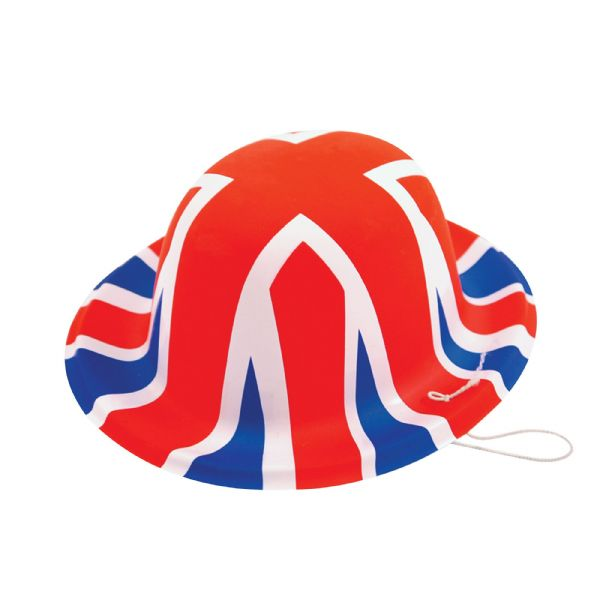Union Jack Hats Mini Plastic Fancy Dress